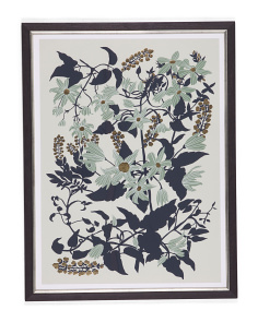 24x32 Plants And Flowers Print On Lithograhic Paper Wall Art