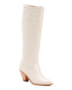Slouch High Shaft Leather Boots