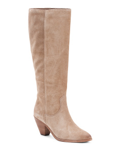 Slouch High Shaft Suede Boots