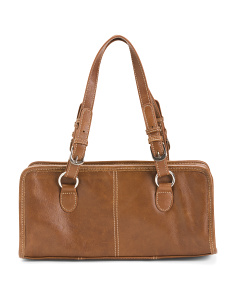 Leather Classy Belt Stitched Satchel