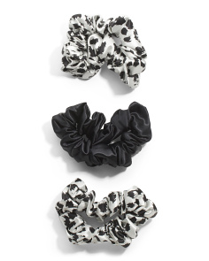 3pk Pure Silk Scrunchies