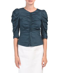 Sateen Ruched Top