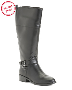 Wide Shaft Riding Boots