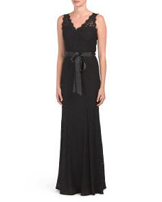 Sleeveless Gown With Illusion Insets