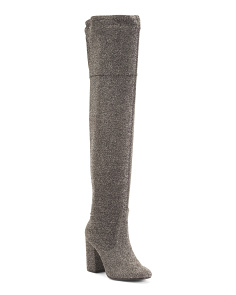 Over The Knee Shimmer Boots