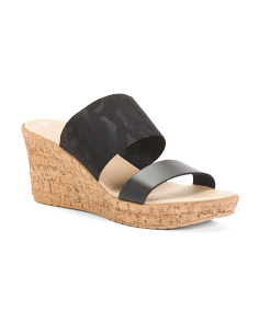 Made In Italy Wide Band Platform Sandals