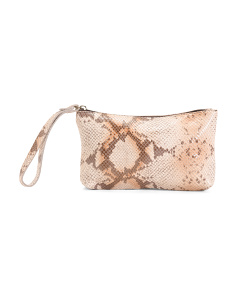 Made In Italy Python Leather Pouch