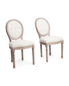 Set Of 2 Round Back Dining Chairs