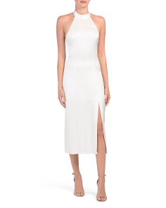 Regina Tie Neck Halter Dress