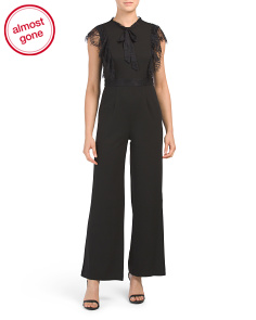 Petite Jumpsuit With Ruffle Sleeve Detail