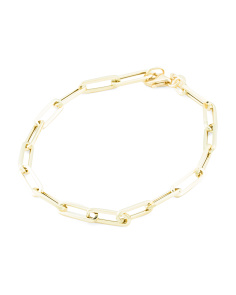 Made In Italy 14k Long Link Chain Bracelet