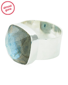 Made In India Sterling Silver Labradorite Ring