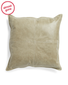 22x22 Genuine Leather Front Pillow