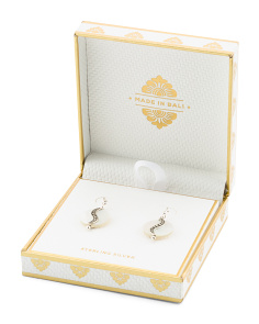 Made In Bali Boxed Sterling Silver Mother Of Pearl Earrings