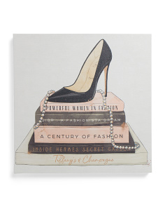 20x20 Classic Stiletto And High Fashion Books Wall Art