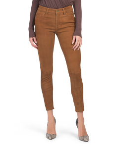 Le High Skinny Suede Pants