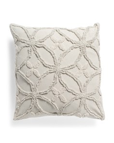 20x20 Textured Towel Stitch Embroidered Pillow