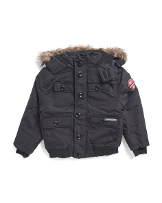 Big Boys Bomber Jacket With Hood
