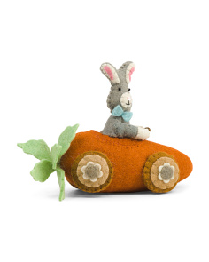 11in Plush Carrot Car With Bunny