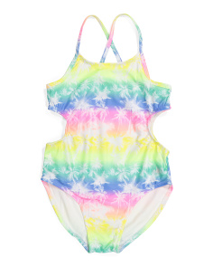 Big Girls One-piece Cut Out Swimsuit