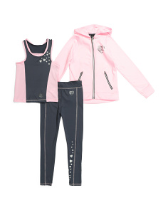 Big Girls 3pc Hooded Active Set