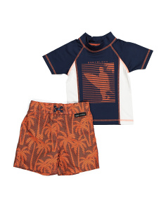 Little Boys 2pc Rashguard Swim Set