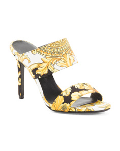 Made In Italy Stiletto Heel Mule Sandals