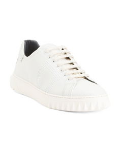 Made In Italy Laced Leather Sneakers