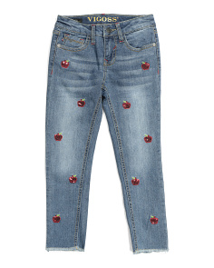 Big Girls Cherry Ankle Jeans