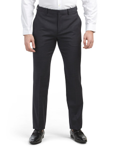 Tonal Textured Mayer Slim Fit Dress Pants