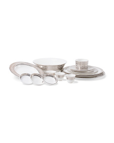 Platinum Hawthorne Serveware Collection