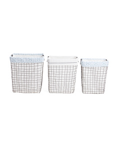 Swirl Metal Hamper Collection