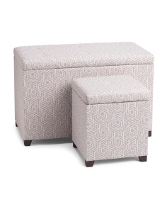 Geo Tufted Lid Ottoman Collection