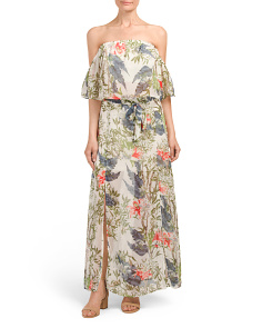 Juniors Floral Top With Maxi Skirt