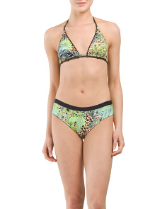 Crystalline Printed Bikini Top With Bottom