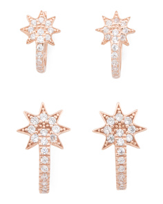 Rose Gold Starburst Earring Collection
