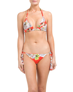 Floral Side Tie Bikini Collection