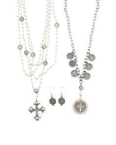 Made In India Sterling Silver And Pearl Pax Rosary Collection