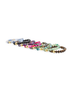 Savannah Stacking Semi Precious Stone Beaded Bracelets