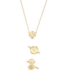 Flora Canary Crystal And White Topaz Collection