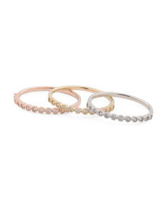 Made In USA 14k Gold And Cz Stacking Ring Collection