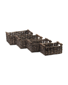 Woven Natural Storage Bin Collection