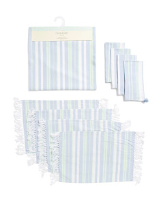 Daniela Striped Table Linen Collection