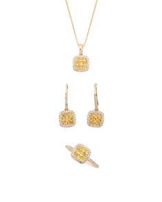 14k Gold Yellow Sapphire And Diamond Collection