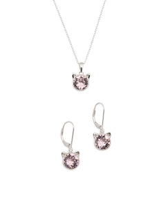 Sterling Silver Swarovski Crystal Cat Ears Collection