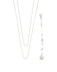 Sterling Silver Build Your Own Sporty Necklace Collection