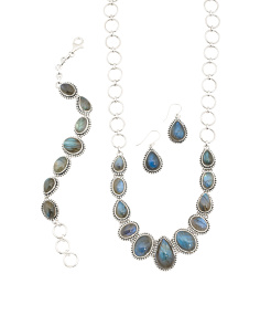 Handcrafted In India Sterling Silver Labradorite Collection