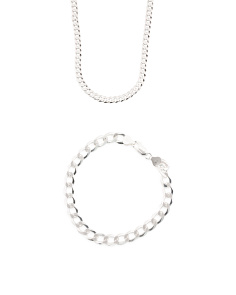 Men's Made In Italy Sterling Silver Cuban Chain Collection