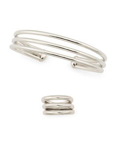 Handmade In Mexcio Sterling Silver 3 Row Banded Collection