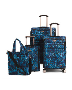 Floral Mar Vista Luggage Collection